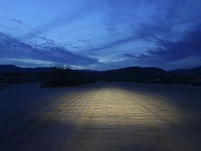 Peter Vanderwarker, 'Headlights at Dusk, Borrego Springs', 2013