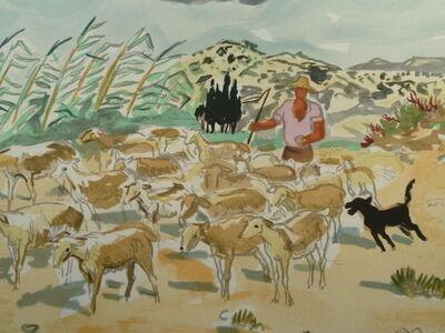 Yves Brayer, 'Provence : Troupeau dans les Alpilles', 20th Century