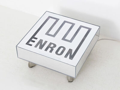 Daniel Klaas Beckwith, '*rare* ENRON Coffee Table Used Mirror Table', 2017