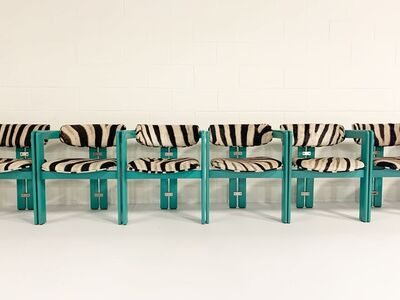 Augusto Savini, 'Pamplona Dining Chairs in Zebra, set of 8', 1960s