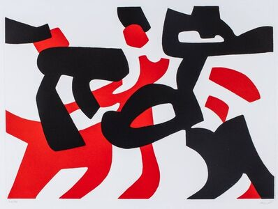 Carla Accardi, 'Red and black'