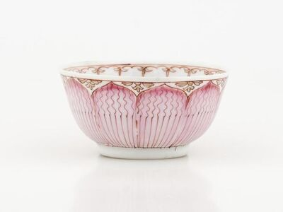 'Teacup and Saucer with Lotus Pattern', about 1750