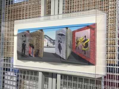 Patrick Hughes, 'Banksy', 2018