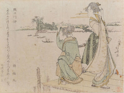 Katsushika Hokusai, 'Willow Tree on Sumida River', ca. 1798