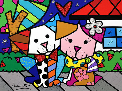 Romero Britto, 'Pet Love', 2018