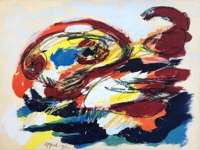 Karel Appel, 'Head in red landscape', 1960