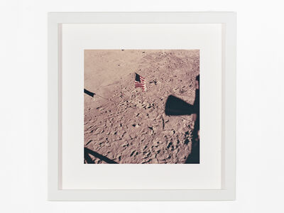 Neil Armstrong, 'Tranquility base and flag from lunar module window', 1969