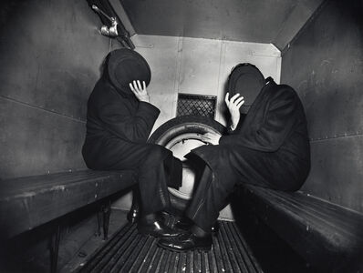 Weegee, 'Weegee, Two Offenders in the Paddy Wagon, ', ca. 1942