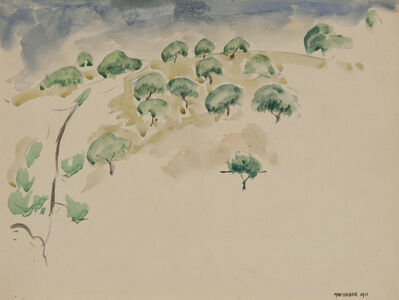 Max Weber, 'Trees on a Hill', 1911