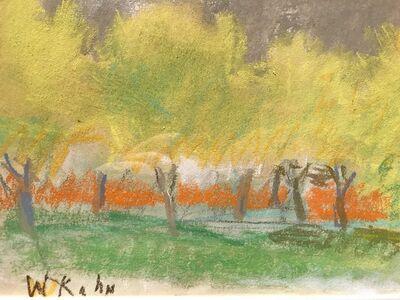Wolf Kahn, 'Untitled Yellow Trees', 1990