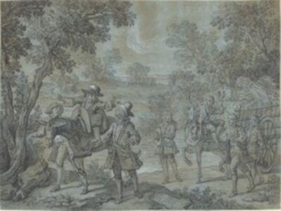 Jean-Baptiste Oudry, 'Ragotin declame des vers;  des paysans croient qu'il preche', 1737