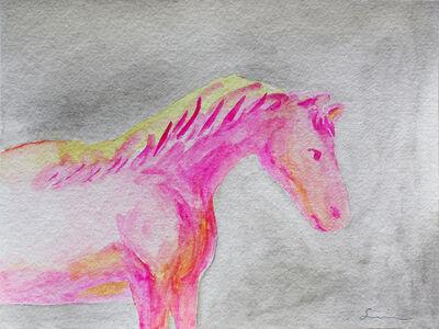 Nobuhiro Shimura, 'Pony (silver, pink)', 2020