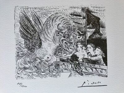 Pablo Picasso, 'Le monstre et les 4 enfants (Suite Vollard Planche XIII)', 1973