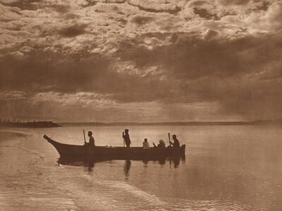 Edward Sheriff Curtis, 'Sunset on Puget Sound', 1898