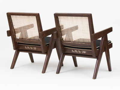 Pierre Jeanneret, 'Set of Low Lounge Chairs', ca. 1960