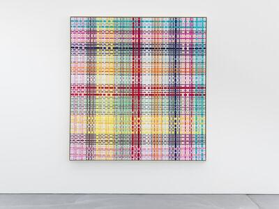 Beat Zoderer, 'Textilbänder auf Leinwand Nr. 3', 1996