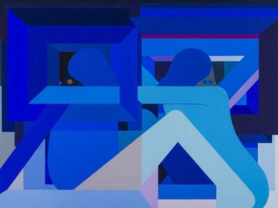 Richard Colman, '2 Opposing Figures (Blue)', 2018