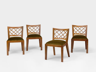 Jean Royère, 'Set of 4 Croisillon chairs', ca. 1937