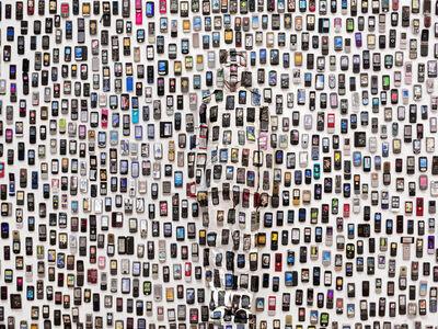 Liu Bolin, 'Hiding in the City -Mobile Phone', 2012