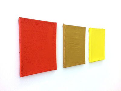 Anna Amadio, 'Color for Paint, orange, gold and yellow', 2015