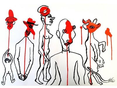 "Alexander Calder, 'Original Lithograph ""Behind the Mirror X"" by Alexander Calder', 1976"