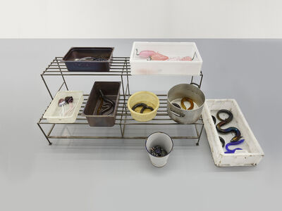 Charles Avery, 'untitled (eel stand)', 2020