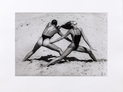 Helmut Newton, 'Beach Excercise, Miami', 1975
