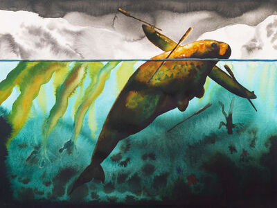 Alexis Rockman, 'Steller's Sea Cow', 2019