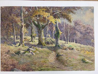 Harry Aaron Kernoff, 'Paysage d'automne dans un sous-bois'