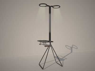 Marc Baroud & Marc Dibeh, 'Lamp with shelf', 2013