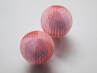 Mariko Kusumoto, 'Red & Pink with Blue ball', 2020