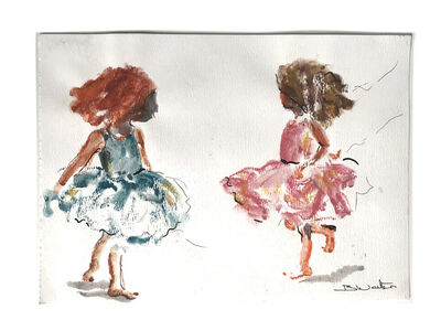 Bonnie Walters, 'Two Young Girls Dancing', 2019