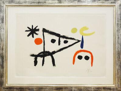 Joan Miró, 'Le petit chat au clair de la lune - El Gatito - Das Kätzchen', 1951