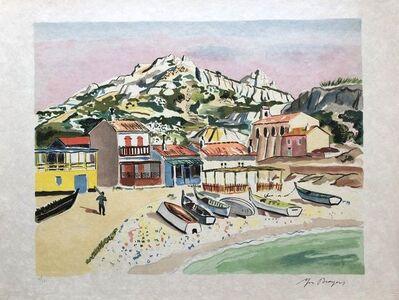 Yves Brayer, 'Small beach in Marseille', 1974