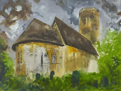 John Piper, 'St Margaret's Church, Hales, Norfolk', 1984