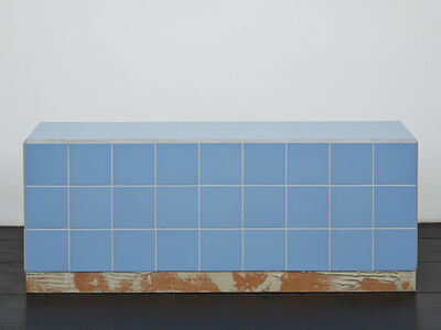 Calla Henkel and Max Pitegoff, 'Reading bench (blue)', 2016