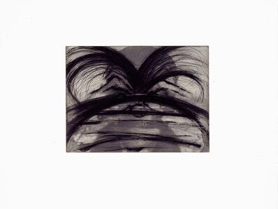 """Arnulf Rainer, 'Beim Zahnarzt (from the portfolio """"Für die Pinakothek der Moderne"""") and Eichenblatt (from the portfolio """"For Joseph Beuys""""), pair of two prints', 1995 and 1986-respectively"""