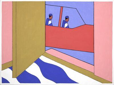 John Wesley, 'Navajos Surrounding the House in a Beechcraft', 1979