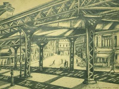 Christopher Richard Wynne Nevinson, 'Third Avenue, Elevated Railway', 1920
