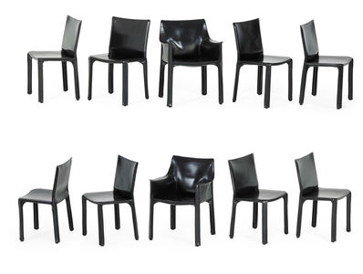 Mario Bellini, 'Set of ten Cab chairs, two arm-, eight side-', 1980s