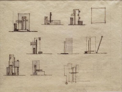 Friedrich Vordemberge-Gildewart, 'Sketches for Architectural Project (S22)', 1919