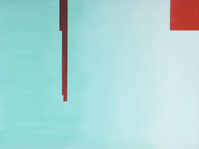 Wanda Koop, 'In Absentia (Pale Aqua - Scarlet Red)', 2016