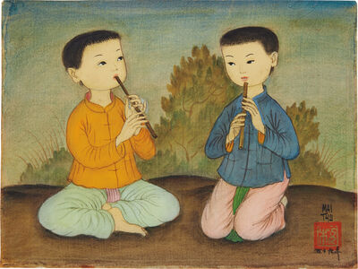 Mai Trung Thứ, 'Two Boys Playing the Flute', 1959