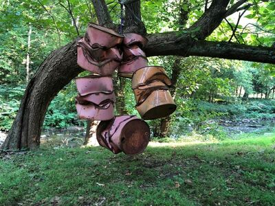 Charles Burch, 'smashed drums in a tree', ca. 2016