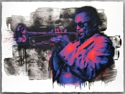Mr. Brainwash, 'MILES DAVIS (PURPLE/ORANGE)', 2015