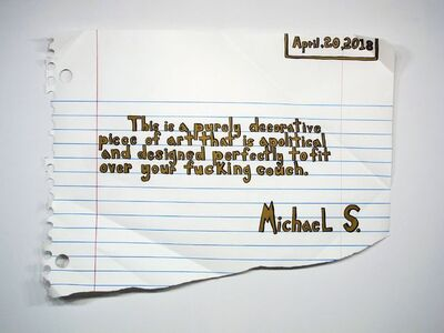 Michael Scoggins, 'Decorative Piece (the golden one)', 2018