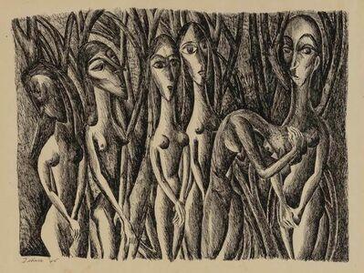 Dorothy Dehner, 'Six Women', 1945