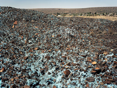 David Goldblatt, 'Blue asbestos waste on the Owendale Asbestos Mine tailings dump. Near Postmasburg, Northern Cape, 21 December 2002', 2002