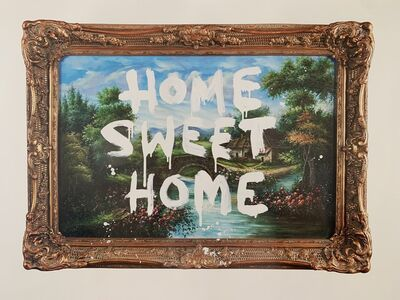 """Banksy, 'BANKSY """"HOME SWEET HOME"""" EXHIBITION POSTER FROM MOCO MUSEUM AMSTERDAM', ca. 2016"""