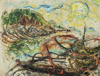 Affandi, 'Boats at Kusamba', 1981